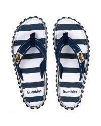 Gumbies japonke, obutev za na plažo in ostale terene z mornarskim vzorcem so iz naravnih in recikliranih materialov.