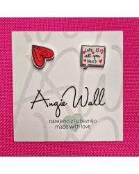 Unikatni uhančki Love is all you need Angie Wall