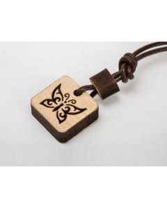 Lesena ogrlica Metulj, ročno izdelani naravni nakit